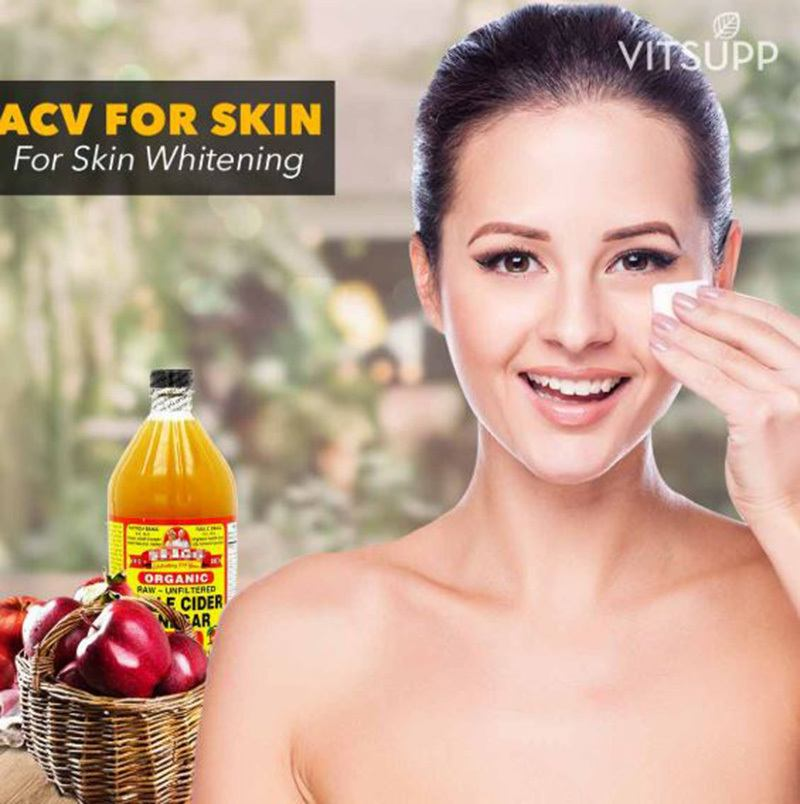 apple cider vinegar for face whitening