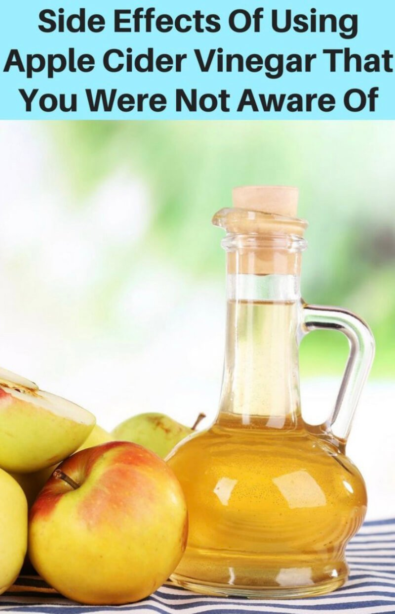 Side effects and risks of apple cider vinegar