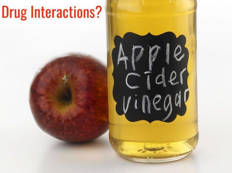 Apple cider vinegar and drug interactions