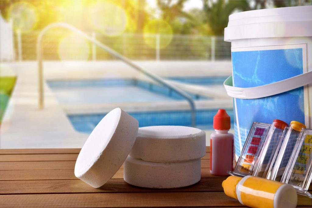 Pool chemicals can reveal pee color